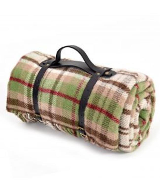 "TWEEDMILL Polo Picknickdecke mit Leder-Trageset ""Cottage Rural"""