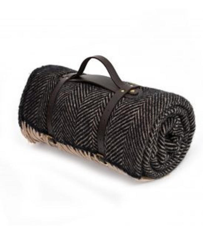 "Tweedmill Tweedmill Picknickdecke Polo mit Leder-Trageset ""Herringbone Vintage"""