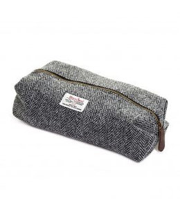 TWEEDMILL Harris Tweed Kulturtasche, silbergrau