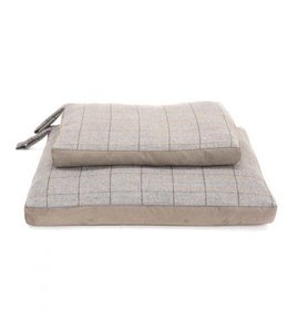 "Hundekissen Tweed ""Overcheck Silver"""