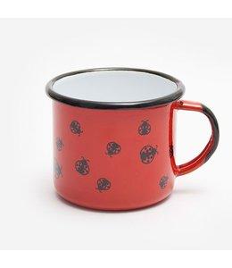 """Kaffeebecher Emaille """"Marienkäfer"""""""