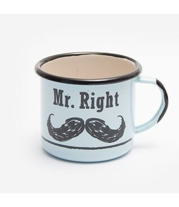 "Emaille Becher ""Mr. Right"""