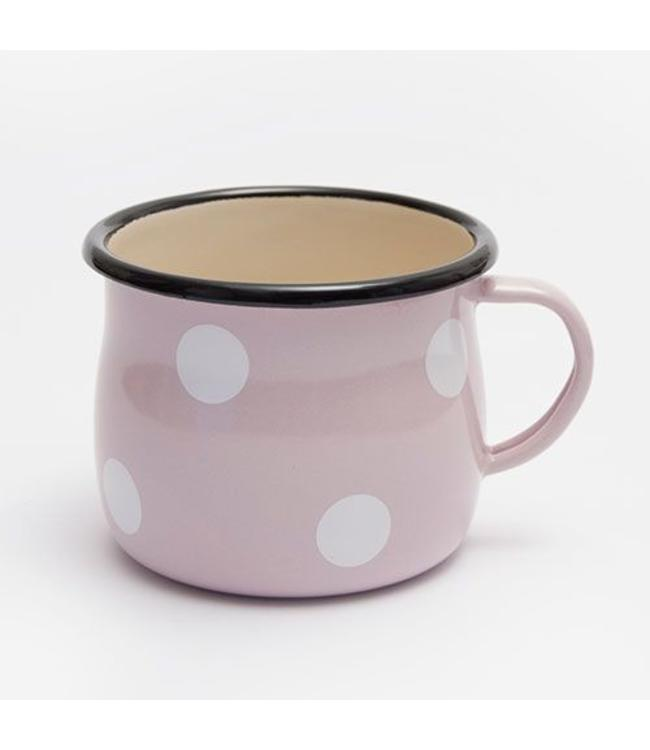 Emaille Becher, pink