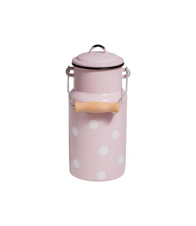 Milchkanne Emaille 2 Liter, pink