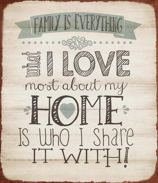"Dekoschild ""Family"""