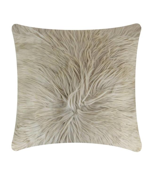 Alpaka-Kissen - unglaublich weich, beige