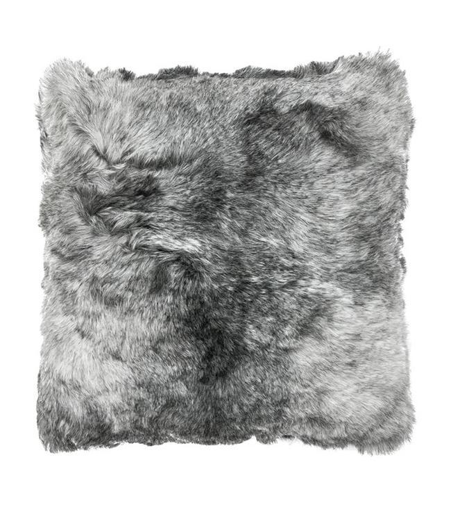 Kissen Lammfell Islandschaf, grau
