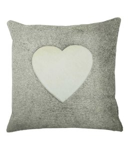 Kissen im Landhausstil - Kuhfell mit Herz