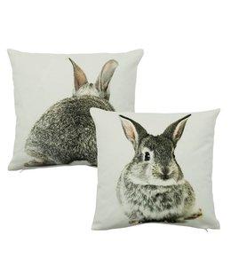 Kissen Kaninchen, beidseitig