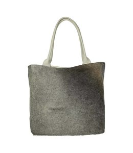 Vintage-Shopper Kuhfell, grau