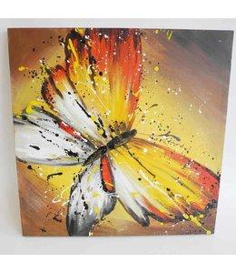 """Wandbild Vintage """"Schmetterling"""" 60x60"""