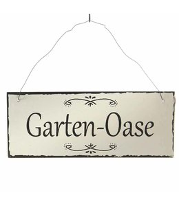 """Deko-Schild """"Garten-Oase"""" Vintage"""
