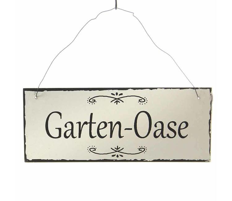 Metallschild Garten Oase Villa Jähn