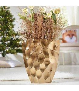 Vase Kupfer Wabendesign