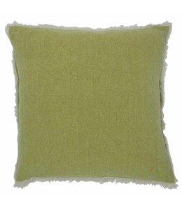 Stone Washed Kissen grasgrün - 45x45