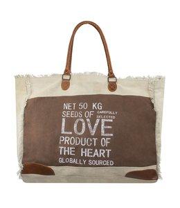 """Handtaschen Vintage Handtasche Landhausstil """"Love"""""""