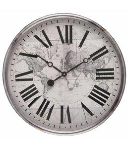 Wanduhr Weltkarte
