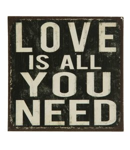 Magnete Vintage Kühlschrankmagnet Love is all you need