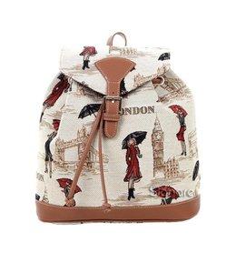 """Vintage Rucksack für Damen """"Miss London"""""""