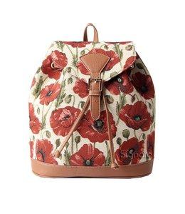 """Vintage Rucksack für Damen """"Mohnblüten"""""""