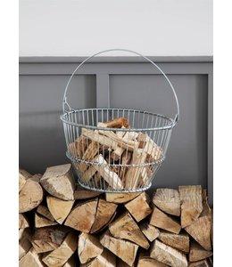 Korb für Anfeuerholz Landhaus