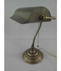 """Bankerlampe """"Messing Antik"""" Vintage"""