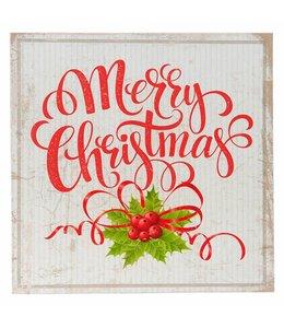 Clayre & Eef  Vintage Deko-Schild Merry Christmas im nostalgischen Landhausstil