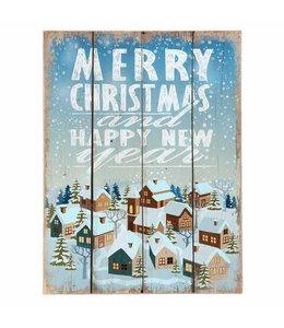 Clayre & Eef  Dekoschild Merry Christmas ♥ Landhausstil