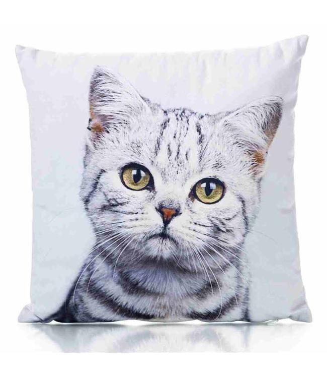 Dekokissen mit Katzenmotiv  34x34