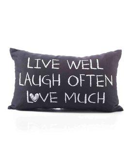 Kissen Vintage Kissenhülle Live, Laught & Love ♥ Landhausstil