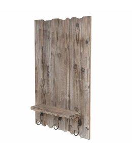 Holz-Board mit Kleiderhaken