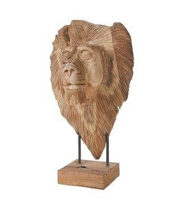 Holzfigur Löwe