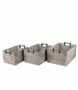 Holzkisten 3er-Set