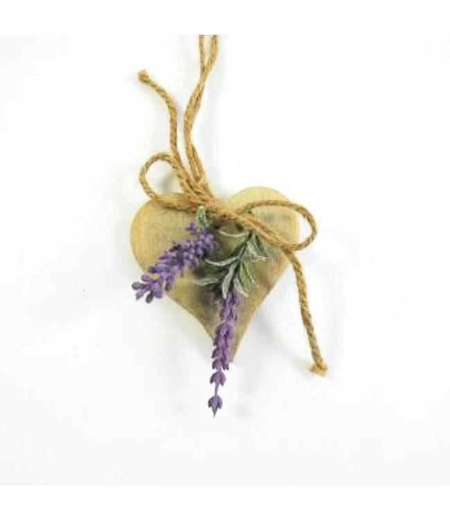 Anhänger Herz mit Lavendel