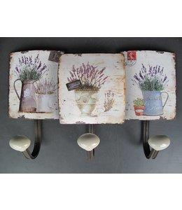 Kleiderhaken Lavendel im französischen Landhausstil