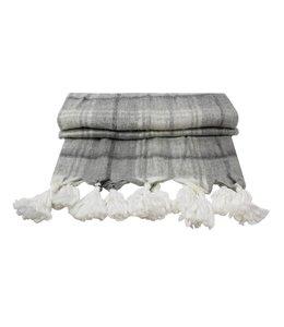 Wolldecken Vintage Wolldecke Raute mit Quasten