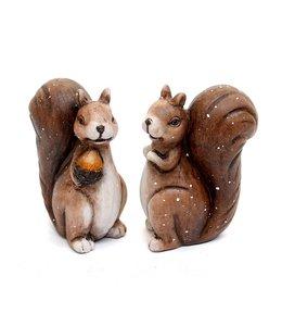 Herbstdeko Vintage Eichhörnchen Pärchen