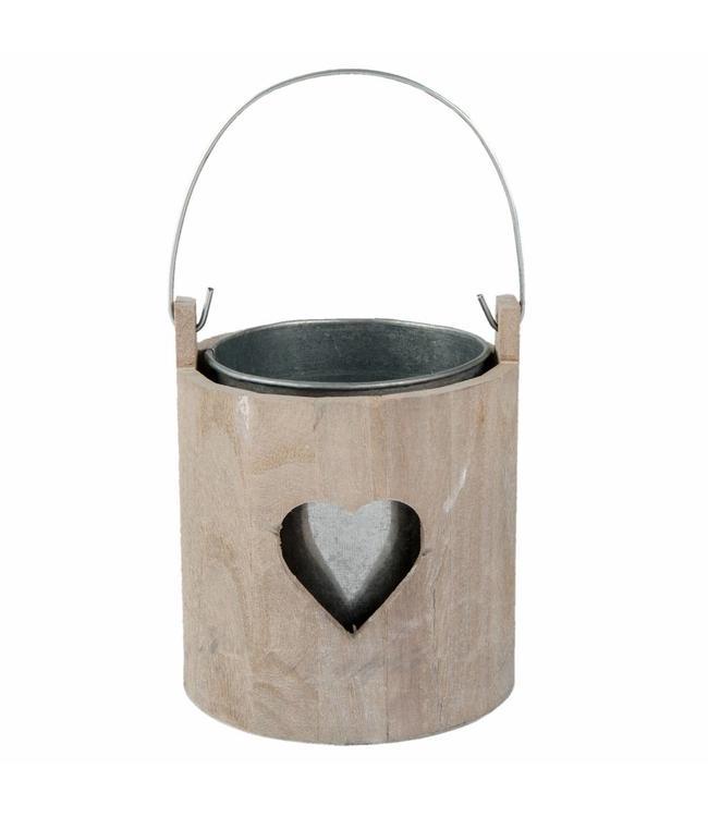 """Teelichthalter im Teelichthalter """"Love"""" im alpinen Landhausstil Landhausstil"""