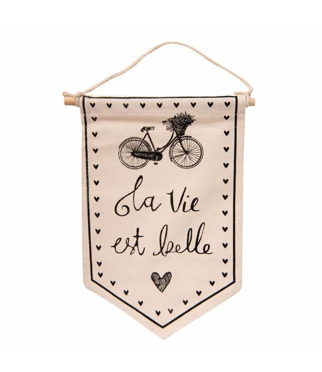 """Wandkarte Vintage """"La Vie est belle"""" 25x33"""