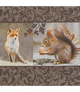 """Herbst-Servietten """"Fuchs und Eichhörnchen"""""""