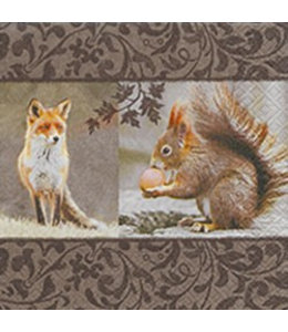 Paper+Design Servietten Fuchs und Eichhörnchen