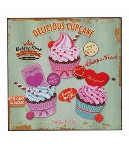Dekoschild Landhaus Dekoschild Cupcake
