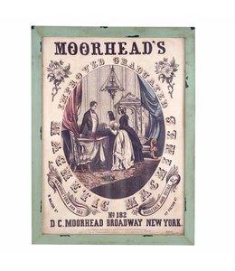 """Wandbild Vintage """"Moorheads"""" 80x105"""