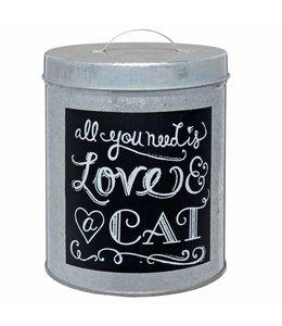 Clayre & Eef  Aufbewahrungsdose Katzenfutter
