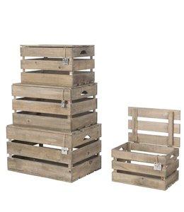 Holzkisten Landhaus 4er Set
