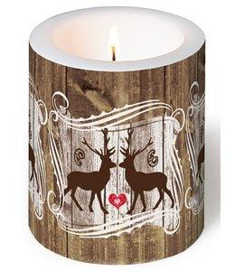 Servietten Vintage Kerze Hirschliebe - 2er Set