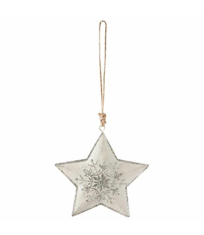 Weihnachtsbaumanhänger Stern - 6er Set
