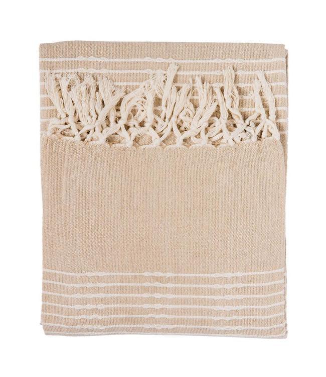 Plaid Baumwolle Natur
