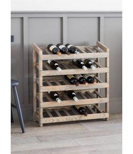 """Weinregal Landhaus """"35 Weinflaschen"""" Fichtenholz"""