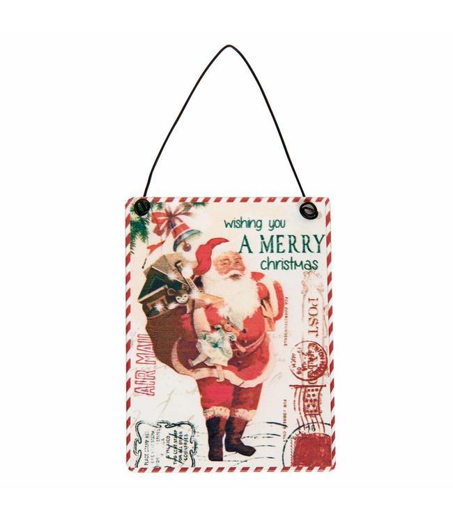 """Deko-Schild """"Weihnachtsmann"""" 6er-Set, Vintage"""